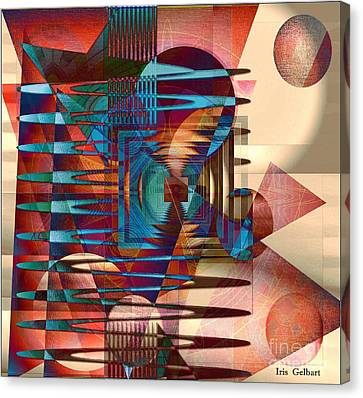 Electric Canvas Print by Iris Gelbart