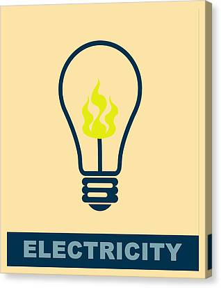 Electric Lamp Canvas Print