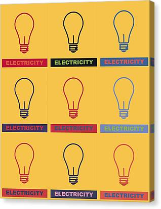 Electric Lamps Canvas Print