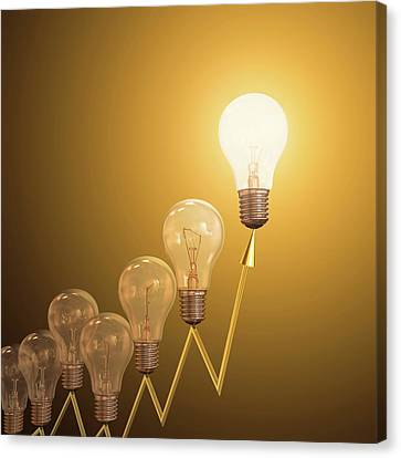 Electric Light Bulbs Canvas Print by Ktsdesign