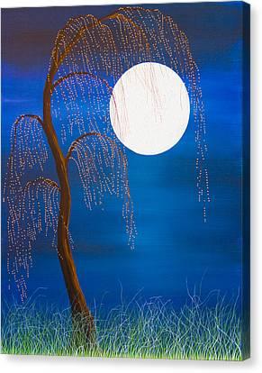 Electric Moonlight Canvas Print
