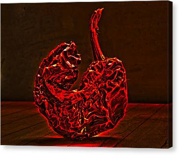 Electric Red Pepper Canvas Print