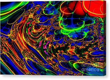 Electric Sea Canvas Print