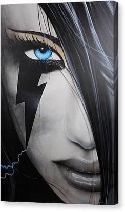 Portrait Of Woman Canvas Print - Portrait - ' Electric Sin ' by Christian Chapman Art