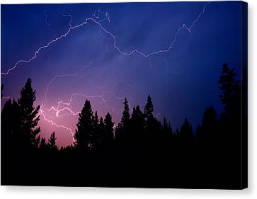Yellowstone Canvas Print - Electric Sky by Greg Norrell