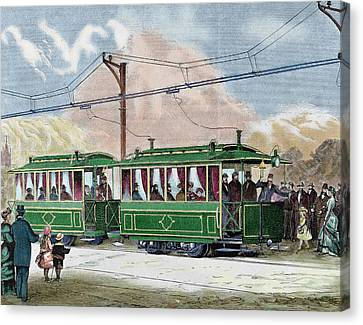 Electric Streetcar Canvas Print by Prisma Archivo