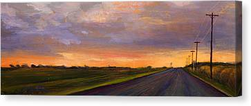 Electric Sunset 2 Canvas Print by Athena  Mantle