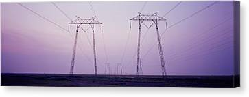 Electric Towers At Sunset, California Canvas Print by Panoramic Images