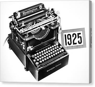 Electric Typewriter, 1925 Canvas Print by Granger