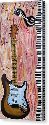 Electric Wave Canvas Print by Robin Hillman