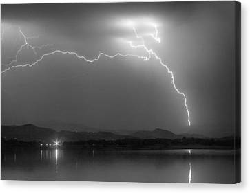 Electrical Arcing Night Sky  Canvas Print