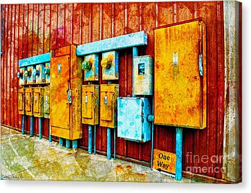 Electrical Boxes Iv Canvas Print
