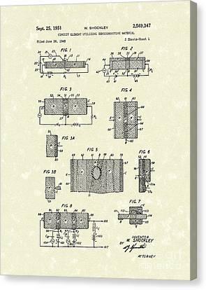 Electrical Circuit 1951 Patent Art Canvas Print