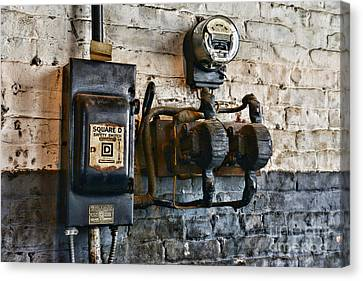 Component Canvas Print - Electrical Energy Safety Switch by Paul Ward