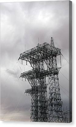Electrical Transmission Tower Canvas Print by Jim West