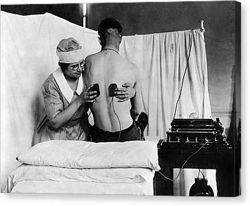 Shock Canvas Print - Electrical Treatment Of Shell Shock by Otis Historical Archives, National Museum Of Health And Medicine
