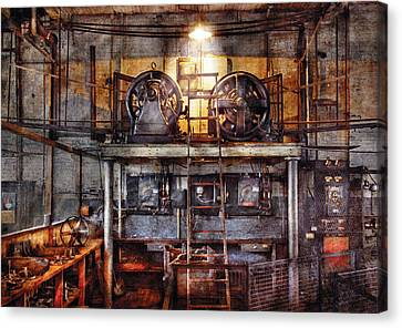 Electrician - Turbine Station Canvas Print by Mike Savad