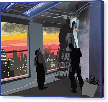 Electricians Canvas Print by Clifford Faust