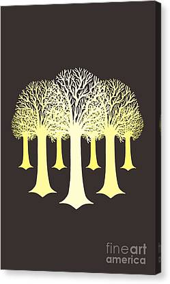 Electricitrees Canvas Print by Freshinkstain