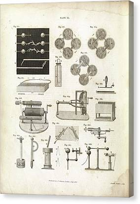 Electricity Experiments Canvas Print by Royal Institution Of Great Britain