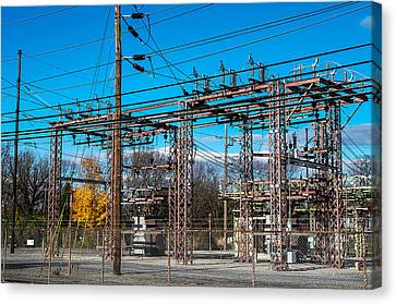 Electricity Station Canvas Print