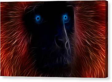 Ape Canvas Print - Electrified by Aged Pixel