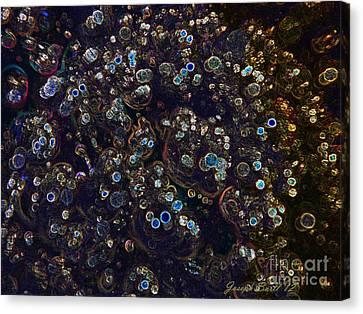 Electrified Neon Bubbles Canvas Print by Joseph Baril