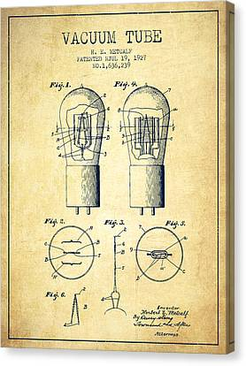 Electrode Vacuum Tube Patent From 1927 - Vintage Canvas Print by Aged Pixel
