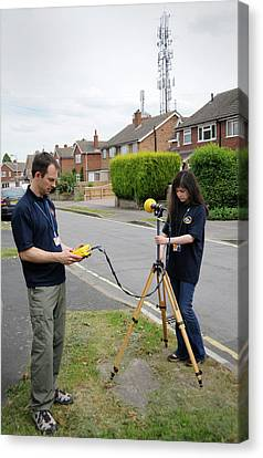 Electromagnetic Radiation Monitoring Canvas Print by Public Health England