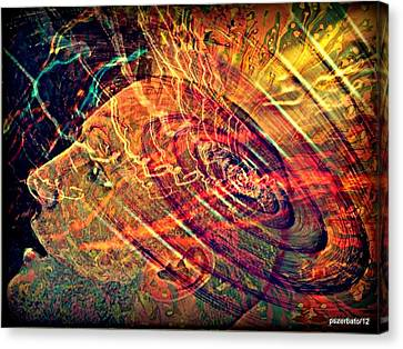Electromagnetic Waves Canvas Print by Paulo Zerbato