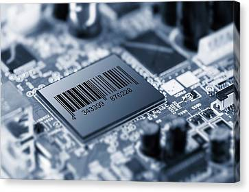 Electronic Component Canvas Print - Electronic Chip by Wladimir Bulgar
