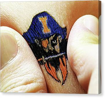 Electronic Circuit Temporary Tattoo Canvas Print