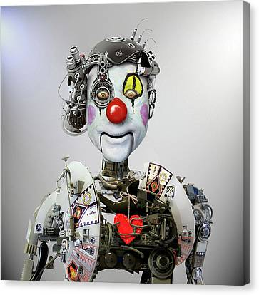 Future Canvas Print - Electronic Clown by