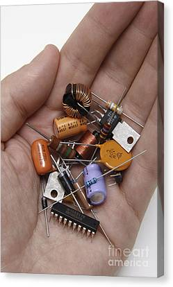 Electronic Component Canvas Print - Electronic Components by GIPhotoStock