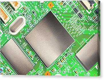 Electronic Printed Circuit Board Canvas Print