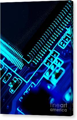 Electronics Canvas Print by Peter Gudella