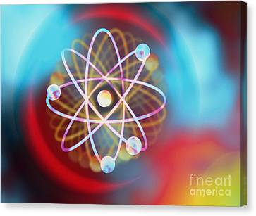 Electron Orbital Canvas Print - Electrons Orbiting by M Kulyk SPL