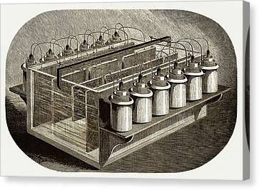Electrotyping Tank For Woodblocks Canvas Print by Sheila Terry