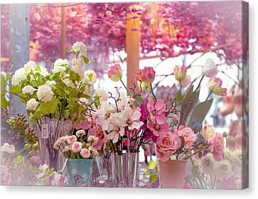 Elegance 1. Amsterdam Flower Market Canvas Print by Jenny Rainbow