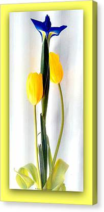 Elegance In Bloom Canvas Print by Michelle Frizzell-Thompson