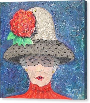 Elegance Is Her Middle Name Canvas Print by Freddie Lieberman