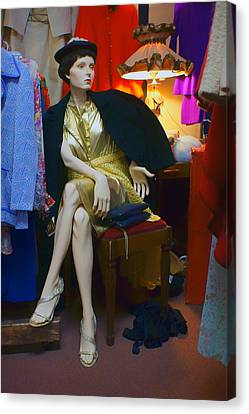 Elegance - Retro Mannequin Canvas Print by Nikolyn McDonald