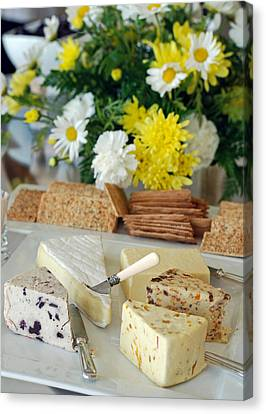 Elegant Cheese Buffet Canvas Print