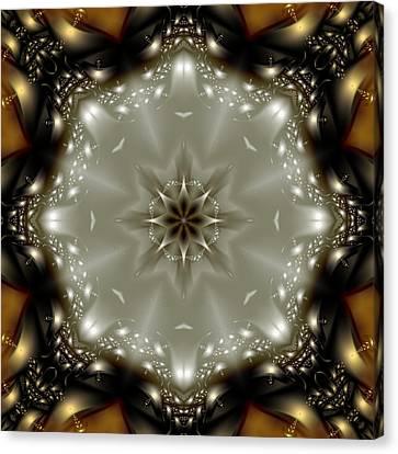 Elegant Fractal Kaleidoscope  Canvas Print by Gina Lee Manley