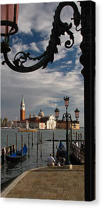 Elegant Lampost Canvas Print by Jennifer Wheatley Wolf