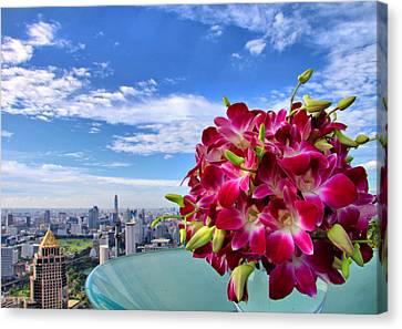 Elegant Orchids Canvas Print