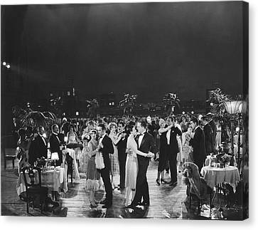 Young Man Canvas Print - Elegant Outdoor Dance Party by Underwood Archives
