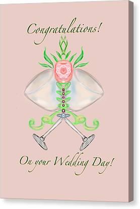 Canvas Print featuring the digital art Elegant Wedding by Christine Fournier