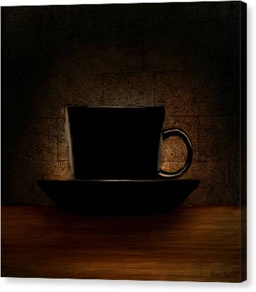 Elegantly Black Canvas Print
