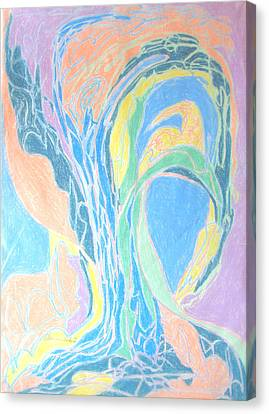 Canvas Print featuring the painting Elegy To A Tree by Esther Newman-Cohen
